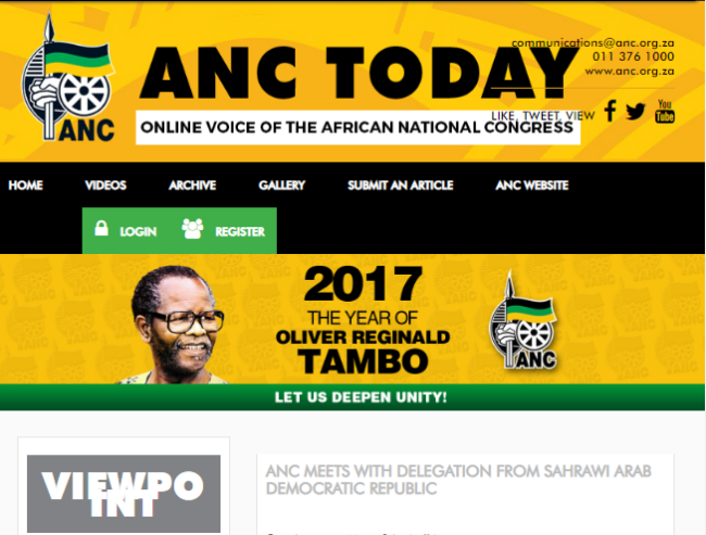 African National Congress - anctoday org za Domain History