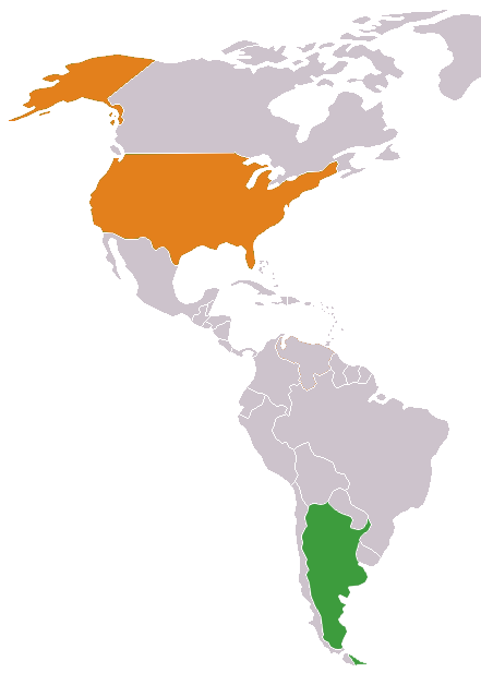Argentina Entry Fee For US Citizens - Us visa map
