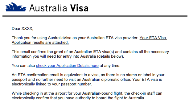 Australia ETA Frequently Asked Questions