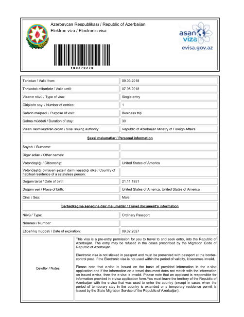 Azerbaijan Visa on Arrival
