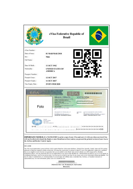 Brazil e visa for tourism business and transit alt text stopboris Gallery