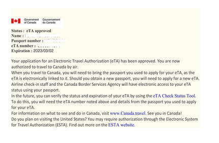 Image result for Canadian eTA