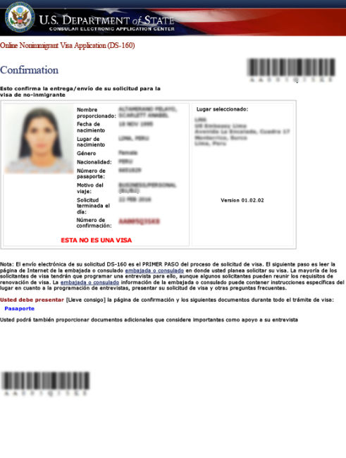 DS-160 Sample PDF Doc U.S. Visa Info and Application on job application nasa, job application jpeg, job application pdf, job application microsoft word, job application ca, job application red, job application template, job application ppt, job application doctor,