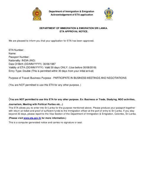 Sri Lanka e-Visa for UK Citizens