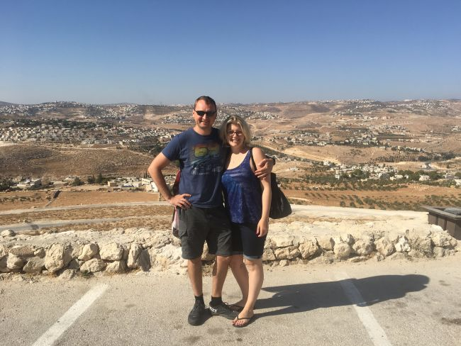 Max and Irina enjoying their trip to Isreal