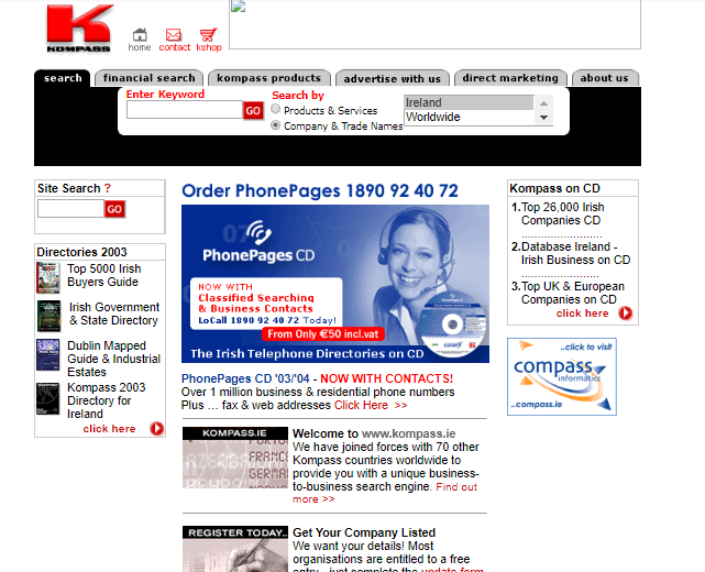 kompass.ie site history